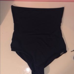 Aerie Navy food over high waisted bikini bottoms
